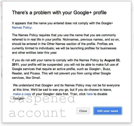 Como restaurar sua conta suspensa do Google plus?