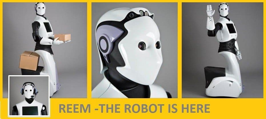 REEM- THE HUMANOID  Coming soon : life-size Robots to replace human workers. REEM