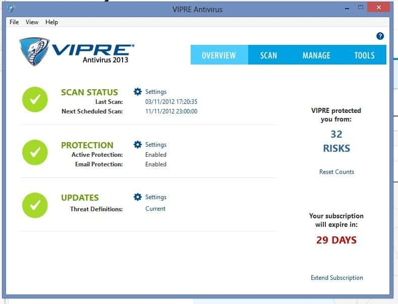 Vipre Antivirus Review en Giveaway.