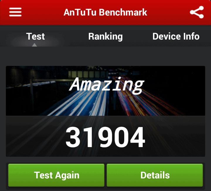Sony Xperia Z1 compact benchmarking