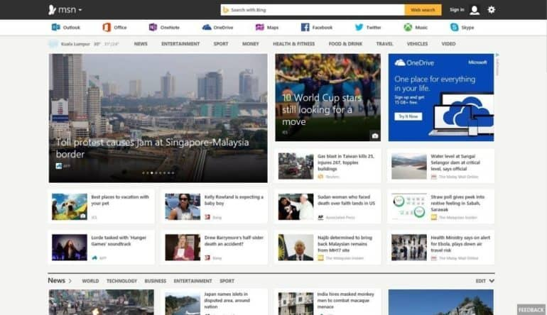 Microsoft Unveils First Look of New MSN in UAE .