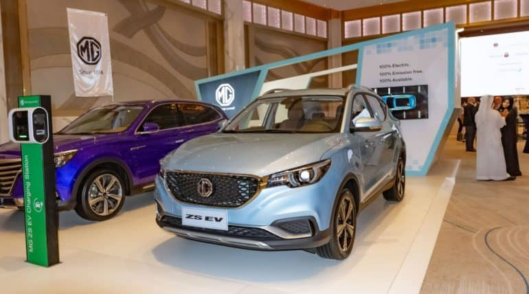 MG Motor launches its first electric vehicle for the Middle East