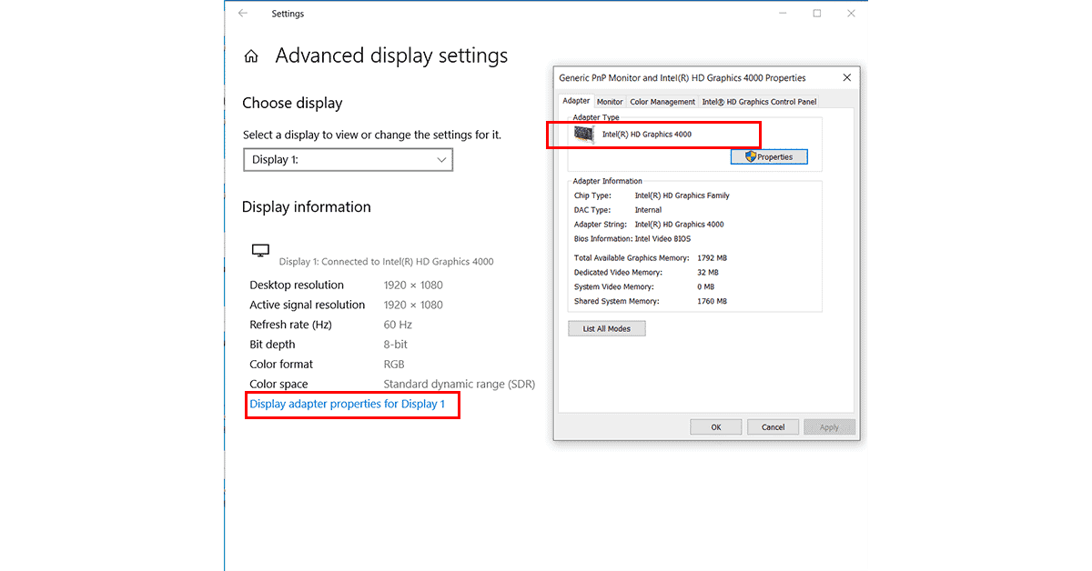 How to Check the Graphics Card on your Windows 10 PC