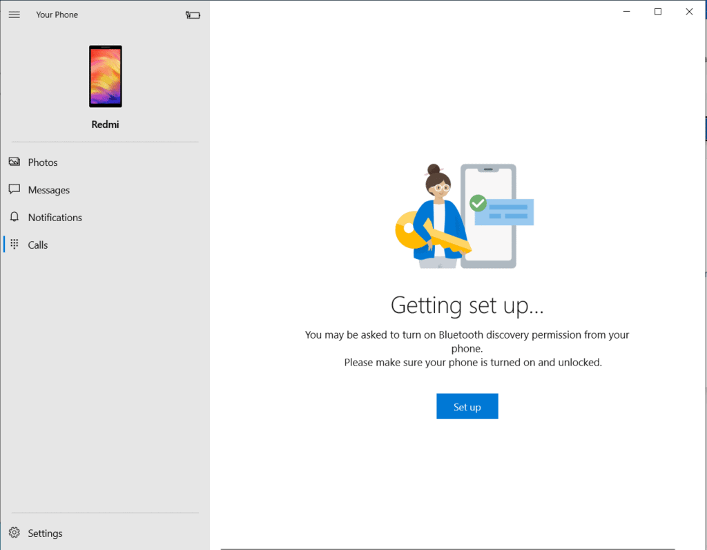 Sync your smartphone with Windows 10 using Yourphone.exe