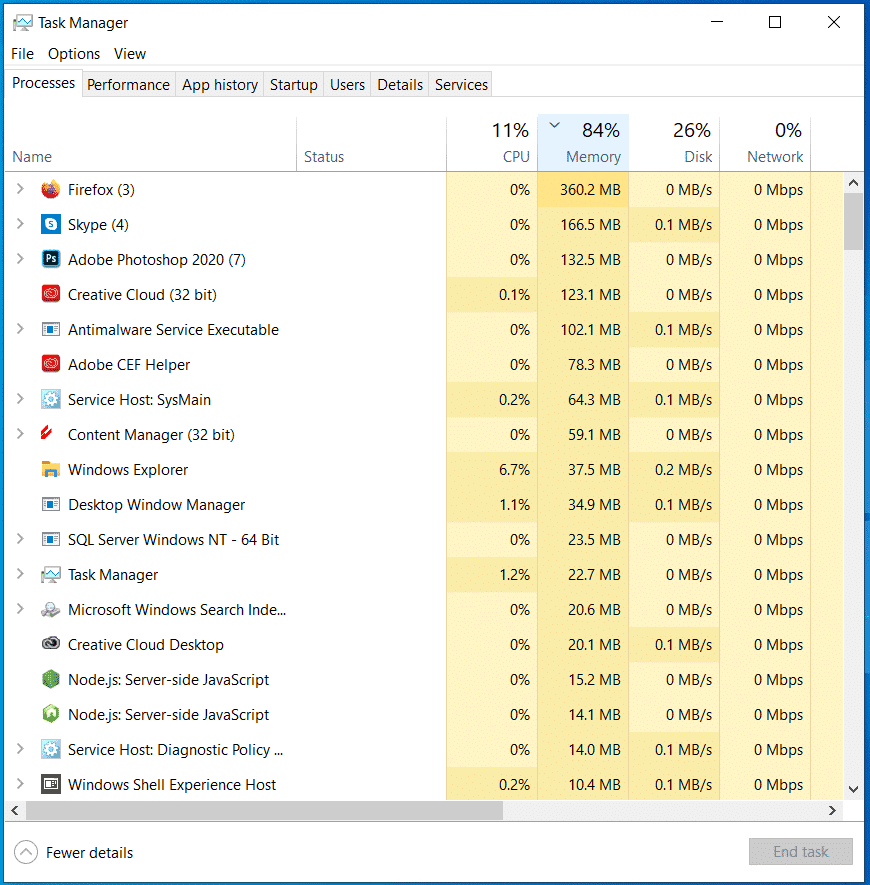 How to clear RAM on Windows 10