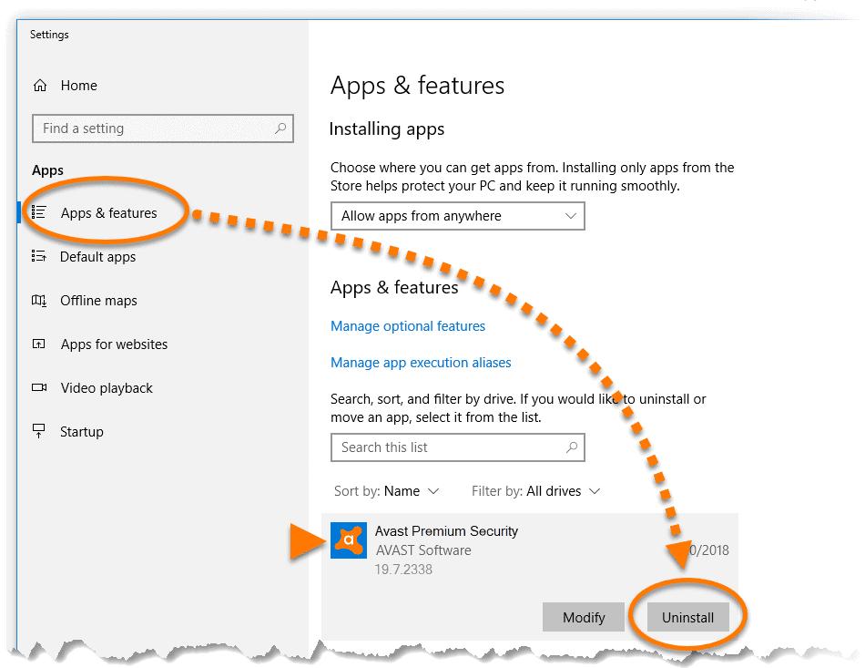 Windows 10-da Avast Antivirusunu necə silmək olar