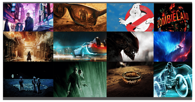 Geek-Inspired Hollywood Virtual backgrounds for Zoom, Skype, Google Meet (Hangouts) Video Conference.