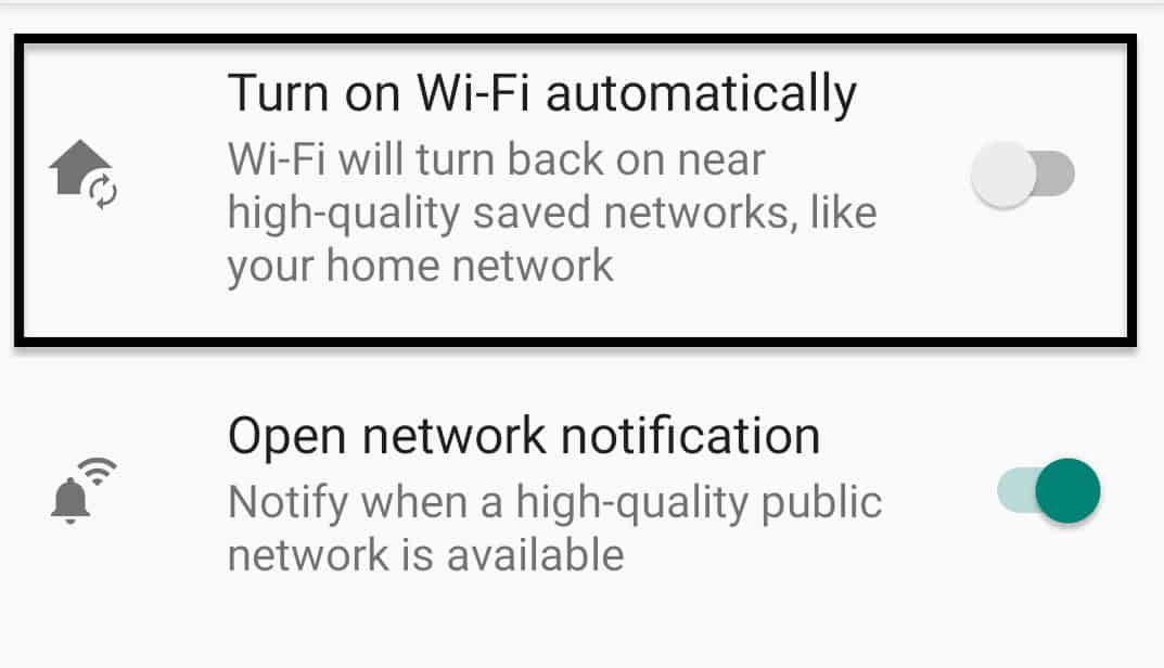 How to stop Wifi from turning on automatically on Android