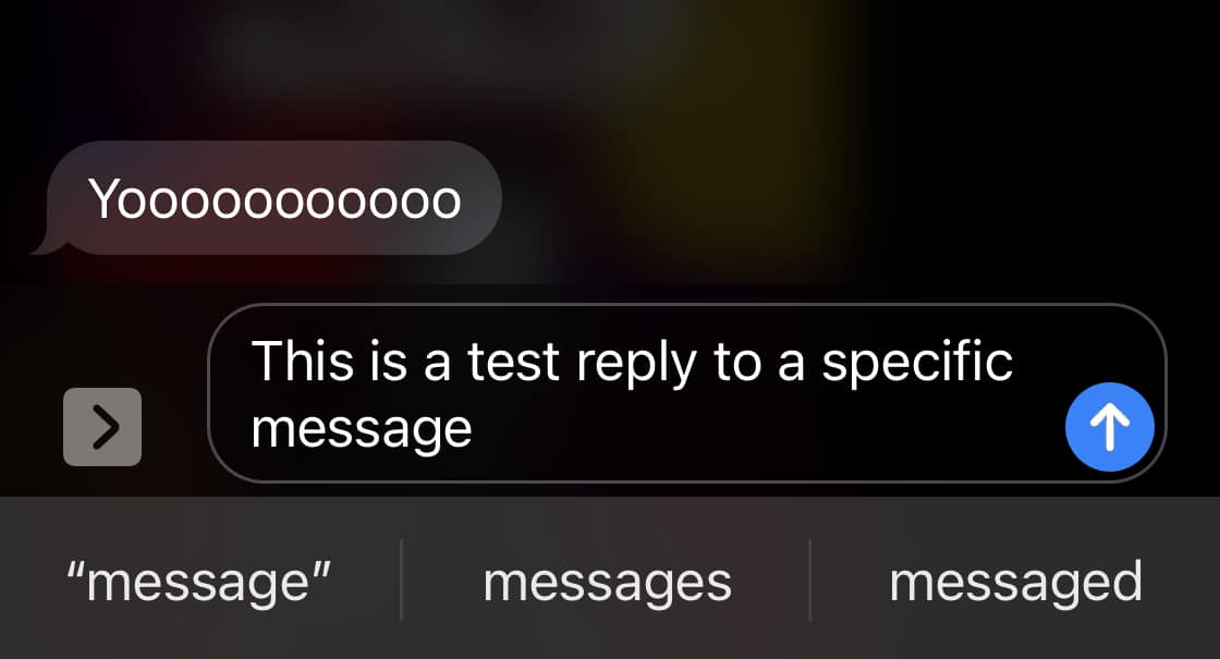How to reply to a specific message on iOS 14