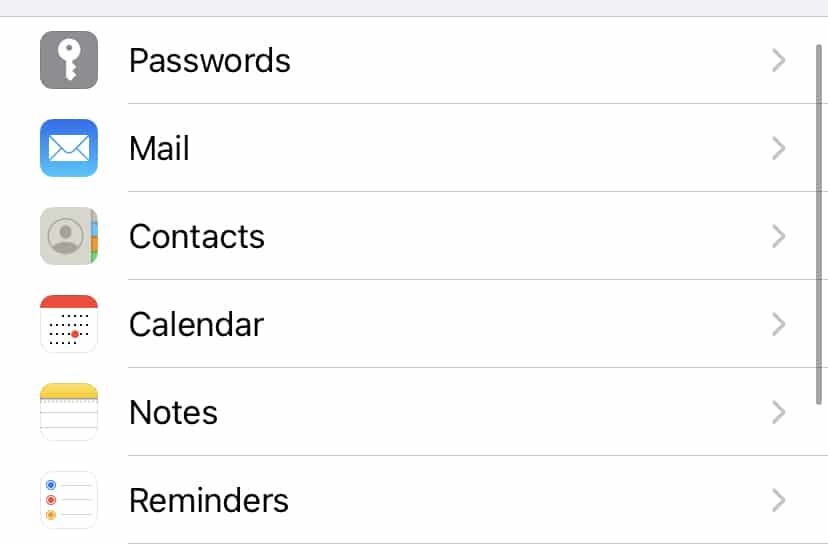 How to add an email account in an iPhone