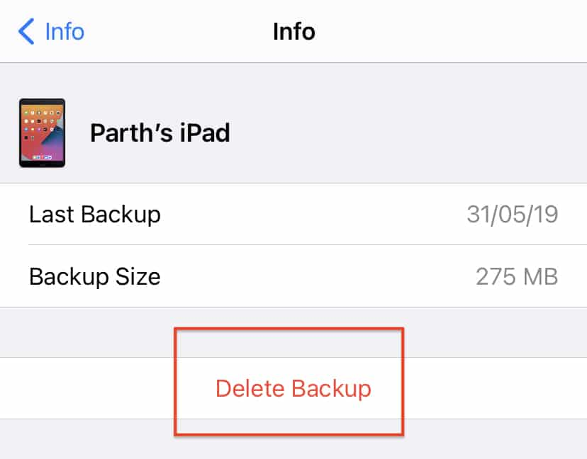 How to delete iCloud backups on iOS 14