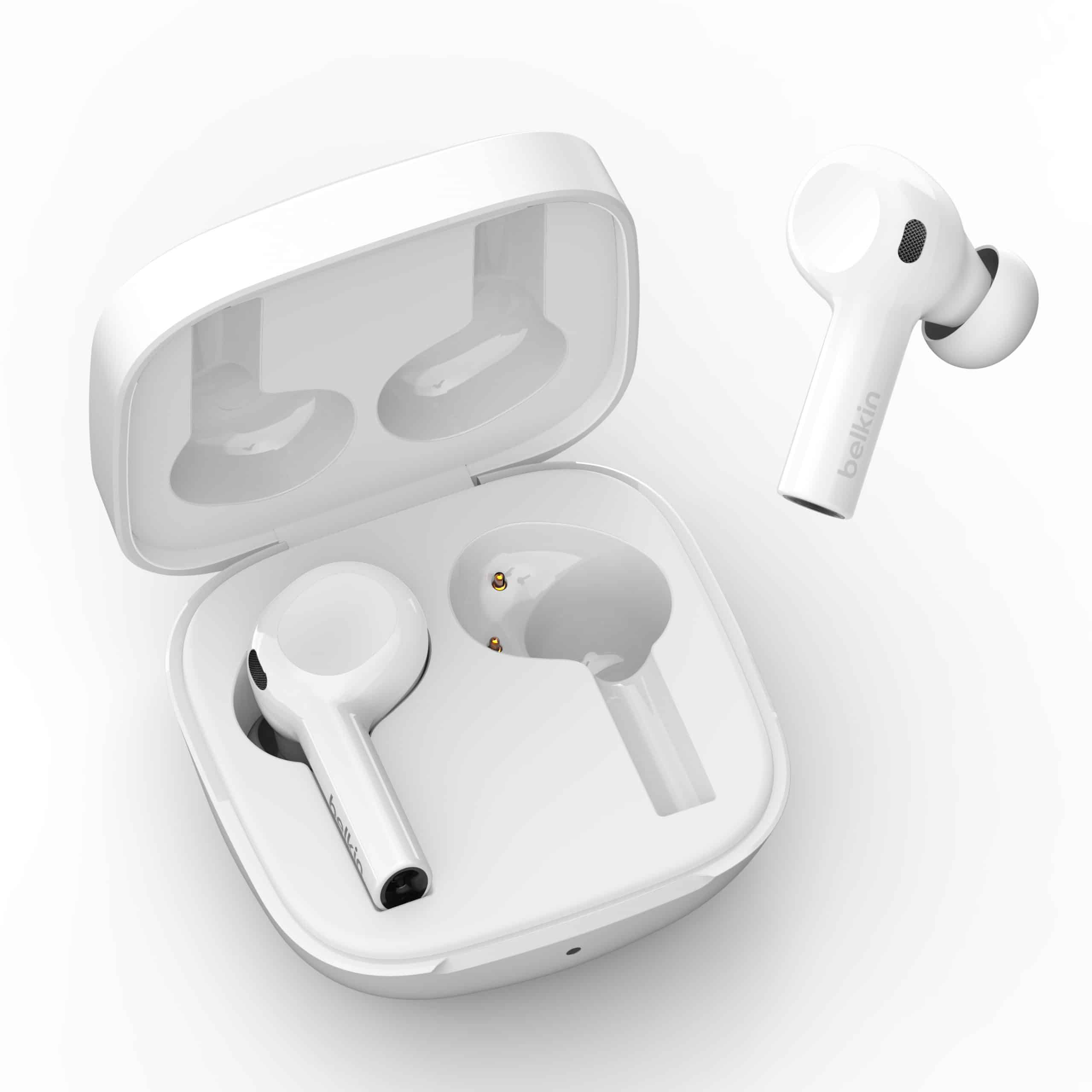 Belkin introduces SOUNDFORM Freedom True Wireless Earbuds, 2-in-1 Wireless Charger Stand with MagSafe and Linksys Aware