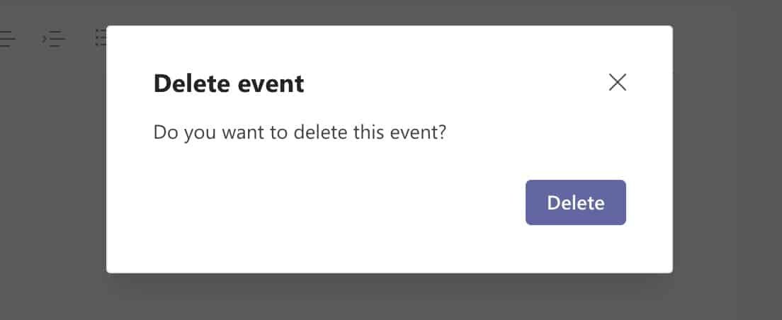 How to cancel a meeting on Microsoft Teams