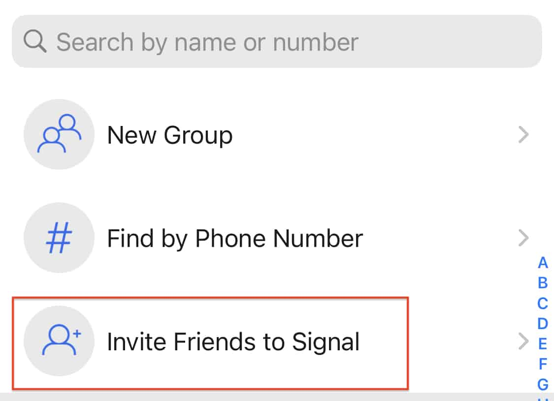 How to add contacts on the Signal Messaging App