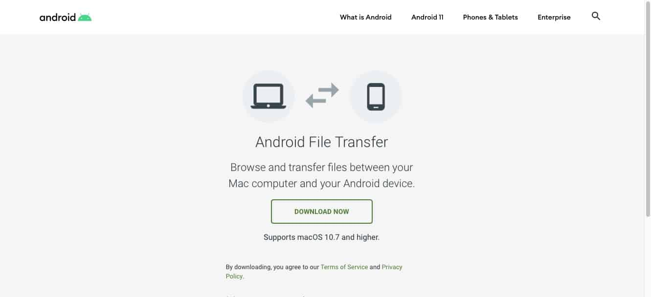 How to install the Android File transfer software on the Mac