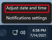 How to change the date and time on Windows 11