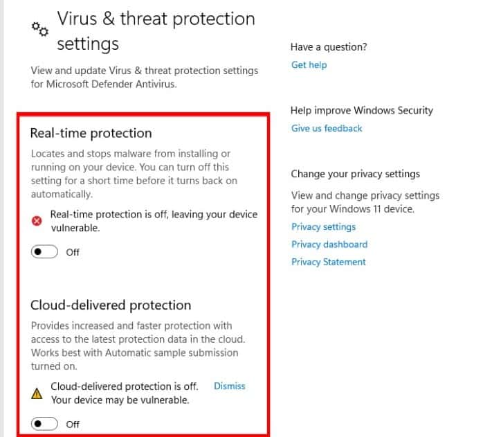 How to disable Windows Defender on Windows 11